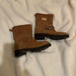 Michael Kors Leather Moto Boot Size 5.5